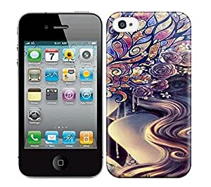 Best Power(Tm) HD Colorful Painted Watercolor Really Smashing Illustrations Hard Phone Case For Iphone 4/4S