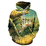 NLMS Anime Hoodies Fish 3D Print Hoodies Men Sweatshirts Male Pullover Sale Tracksuits Hip Hop Clothing