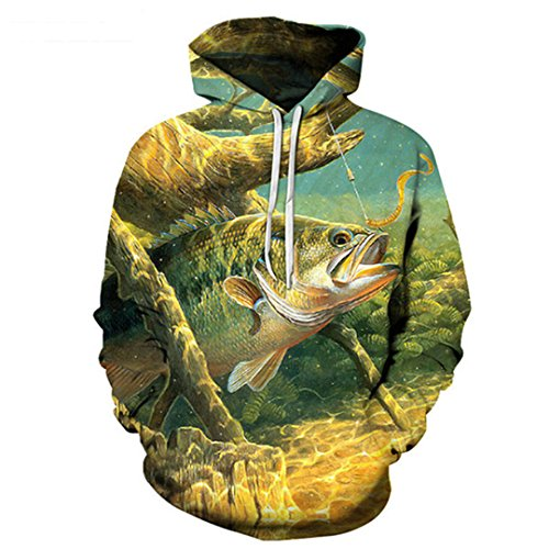 NLMS Anime Hoodies Fish 3D Print Hoodies Men Sweatshirts Male Pullover Sale Tracksuits Hip Hop Clothing