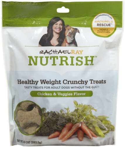 Rachael Ray Nutrish Healthy Weight Treats, Chicken & Veggies Flavor Crunchies Recipe, 10-Ounce Pouch (Pack of 5)