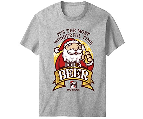 - Big Dogs Most Wonderful Time Beer T-Shirt 5X Gray Heather