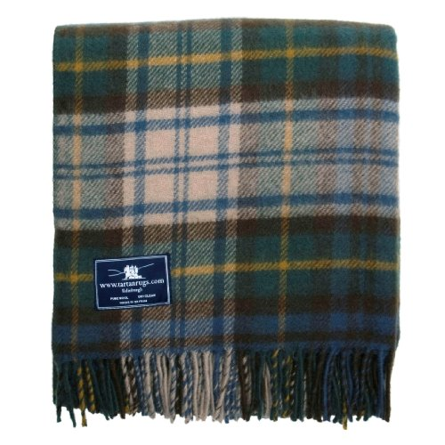 Antique Dress Gordon Tartan Premium Wool Throw (Antique Blanket Wool)