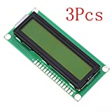 3Pcs 1602 Character LCD Display Module Yellow Backlight For Arduino - Arduino Compatible SCM & DIY Kits