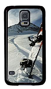 Diy Fashion Case for Samsung Galaxy S5,Black Plastic Case Shell for Samsung Galaxy S5 i9600 with Skis