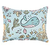 AmazonBasics Kids Easy-Wash Microfiber Bed-in-a-Bag Bedding Set - Twin, Ocean Party