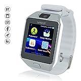 WISEUP Berühren Bildschirm Bluetooth Smart Uhren Handys mit Telefon Anrufen Kamera und Pedometer Verlorene Funktion für Android Samsung Handy