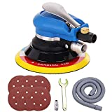 Anesty 6'' Air Random Orbital Sander, Dual Action Pneumatic Orbit Polisher Pro Grinding Sanding Tools with Vacuuming(Needed Air Compressor)