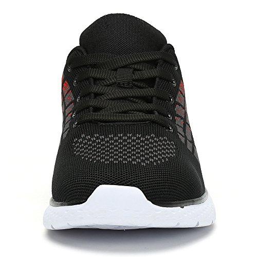 rosso Corsa All'aperto Casual Sport Palestra Ashopping Outdoor Running Scarpe Uomo Basse Scarpe Ginnastica Mesh Sneakers W4Anxq6na