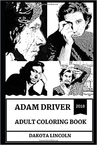 Amazon Com Adam Driver Adult Coloring Book Emmy Award Nominee And