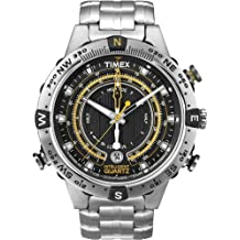 Timex Men's T2N738 Intelligent Quartz Adventure Series Tide Temp Compass Stainless Steel Case and Bracelet Watch