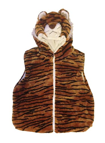[Fashion Animals Vest Hoody for Kids - Costume - Pretend Play (Small, Tiger)] (Country Girl Costumes For Kids)