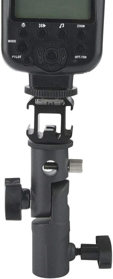 Diyeeni Flash Light Stand Holder Set,Aluminum Alloy Tri-Hot Shoe Mount Adapter for Microphone//Flash Light+Rod-Tooth Design Flash Light Stand Holder Umbrella Holder Bracket,Flash Speedlite Holder