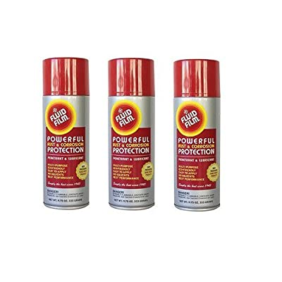 Fluid Film TPAS11 Powerful Rust & Corrosion Protection, Penetrant and Lubricant for Corrosion Control, Penetration, Metal Wetting and Water Displacement, 11.75 Ounce (3 Aerosol Spray Cans)