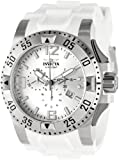 Invicta Men's 1416 Excursion Reserve Chronograph Silver Dial White Polyurethane Watch