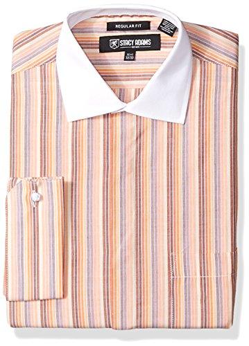 STACY ADAMS Mens Mulit Stripe Classic Fit Dress Shirt