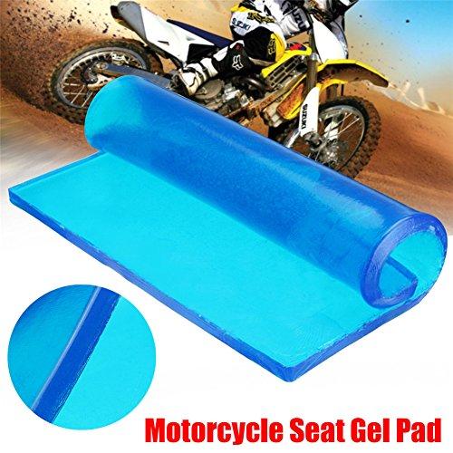 blue--net Motorcycle Seat Gel Pad, Motorcycle Motorbike Seat Cushion Gel Pad DIY Passenger Soft Mat Touring Comfort(9.84 x 9.84 x 0.39in)