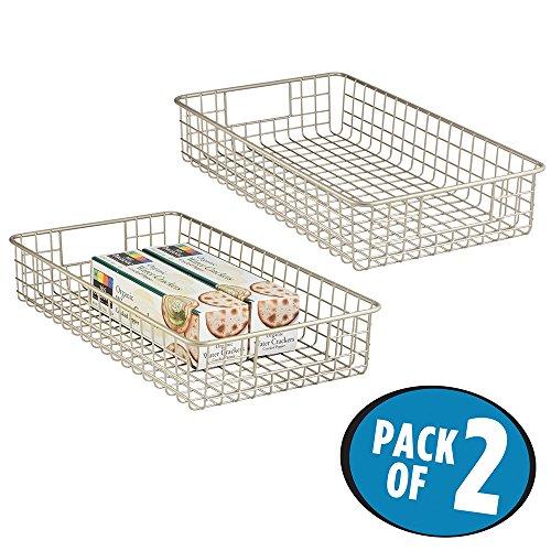 mDesign Storage Basket Kitchen Cabinet