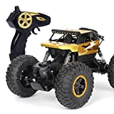 remote control 18 wheeler trucks - Outsta Off-Road RC Climbing Car,1:18 Scale Mouster Car, 2.4Ghz 4WD Alloy High Speed Racing Cars,Vehicle Toy Remote Control Car Electric Cars Truck-Gold or Sliver,Gift for Boys (Gold)