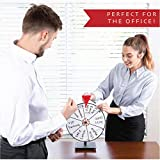 """GLWare 12"""" 5-in-1 Tabletop Prize Wheel - Smooth"""