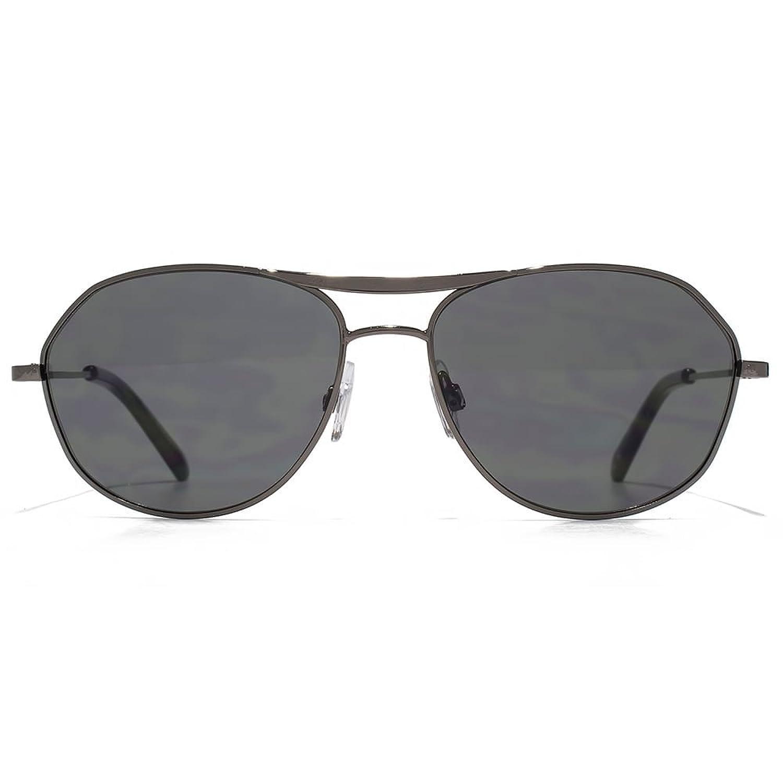 Ben Sherman Konische Tempel Metall Aviator Sonnenbrille im dunklen Gunmetal BEN004 One Size Grey Vn1OKUknTK