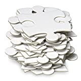 Jigsaw2order Blank Puzzle, Wedding Guest Book Puzzle, White, 35 Large Numbered Blank Puzzle Pieces, Piece Size 2.5inch, Puzzle Size 12 x 18inch.