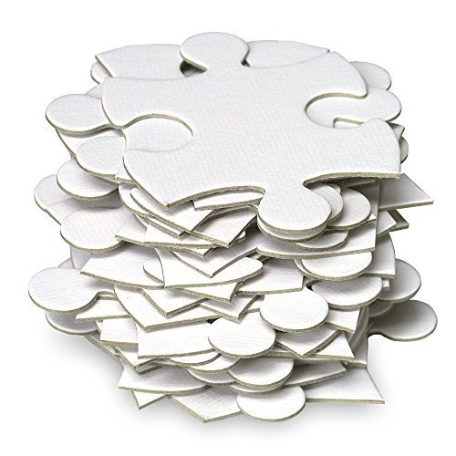 Jigsaw2order Blank Puzzle, Wedding Guest Book Puzzle, White, 35 Large Numbered Blank Puzzle Pieces, Piece Size 2.5inch, Puzzle Size 12 x -