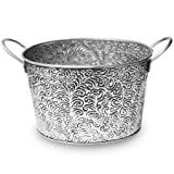 Small Galvanized Party Ice Tub for Beverages 13''L