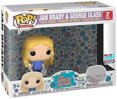 Funko Pop THE BRADY BUNCH JAN BRADY /& GEORGE GLASS EXCLUSIVE Figure 2 PACK!