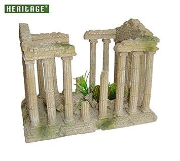 Adorno para acuario de Heritage, diseño de ruinas de templo romano: Amazon.es: Productos para mascotas