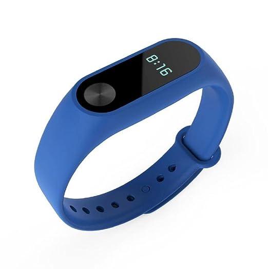 Sannysis - banda de silicona para xiaomi mi band 2 strap color azul