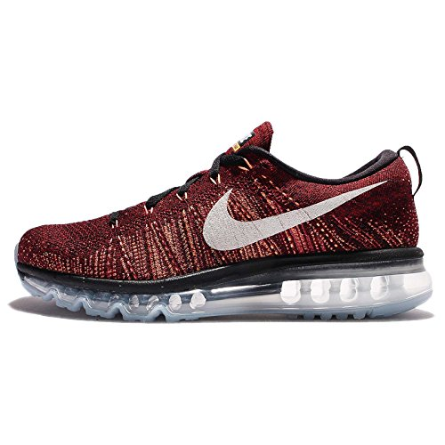 Nike Mens Flyknit Max, Nero / Summit White-team Rosso, 15 M Us