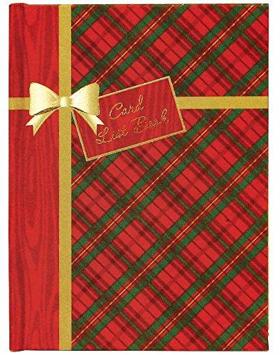 C.R. Gibson Holiday Tartan Christmas Card List Book