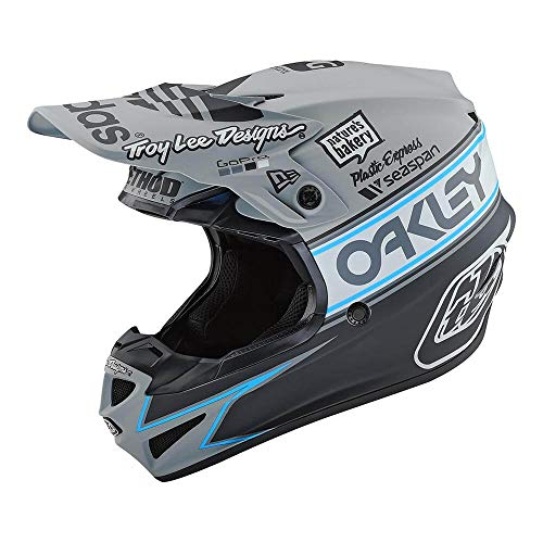 Troy Lee Designs SE4 Polyacrylite Team Edition 2 Off-Road Motocross Helmet (Gray, Large)