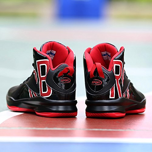 Running Breathable Ankle Red Boots Sneaker Trainers Men Support Outdoor Sports Shoes Lightweight Shoes Basketball Black GOMNEAR xwqtZP0BP