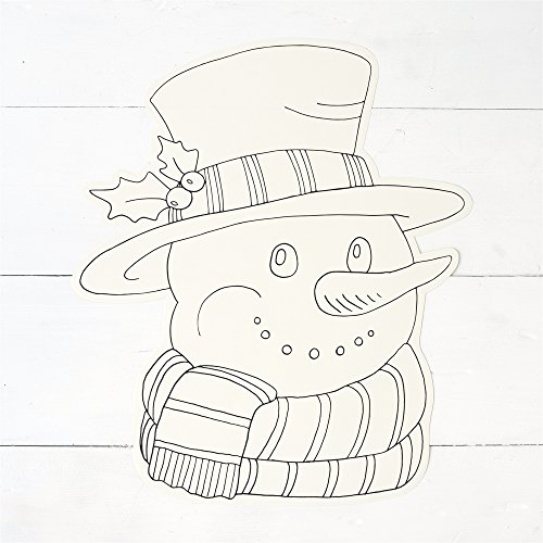 Hester and Cook Die-Cut Coloring Snowman Paper Placemat (Snowman Coloring Sheet)