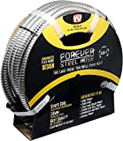 FOREVER STEEL HOSE | 25FT 304 Heavy Duty Stainless Steel Metal Garden Water Hose - Flexible, Expandable, Lightweight, Kink-Free | UV Resistant | Stays Cool in Summers, Never Frozen in Winter...
