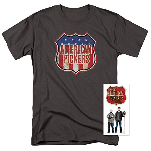 American Pickers Distressed Logo T Shirt   Exclusive Stickers  Large