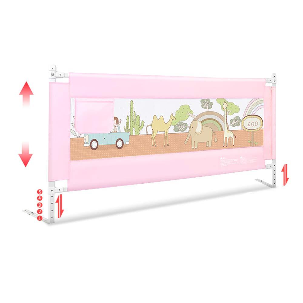 DD ベビー&マタニティ/ベビー布団寝具/ベッドガードフェンス, 85CM高さのベビー用品のガードレール、垂直の持ち上げ防止秋の赤ちゃんガードレール-5ファイル調整可能な-3色-1.5-1.8-2メートル -子供を守る (色 : C, サイズ さいず : 2M) 2M C B07PVH3WGT
