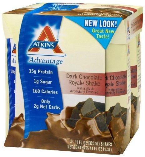 Advantage Ready-to-Drink Shakes, Dark Chocolate Royale Shake, 11 oz, 24 shakes, 1 case by Atkins