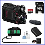 Olympus Stylus Tough TG-Tracker Action Camera (Black) Pro Bundle, Includes: 64GB MicroSDXC Class 10 Memory Card, Olympus Case, Spare Battery and more ...