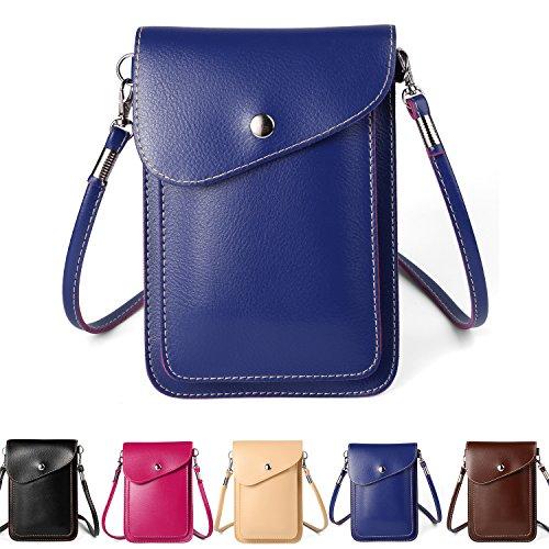 fbcaac532b09 ZZJ Women's PU Leather Crossbody Bag Wallet Case Purse Pouch - Import It All