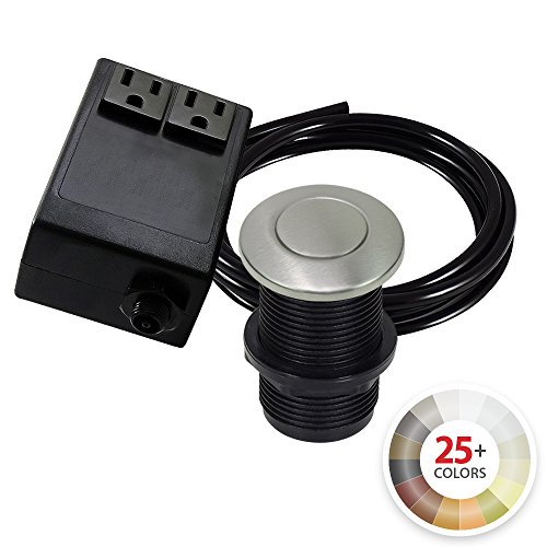 Dual Outlet Garbage Disposal Turn On/Off Sink Top Air Switch Kit in Compatible with any Garbage Disposal Unit and Available in 25+ Finishes by