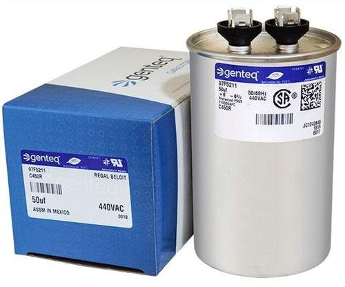GE Genteq Round Capacitor 50 uf MFD 440 Volt Z97F5211 97F5211