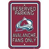 NHL Colorado Avalanche Plastic Parking Sign