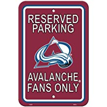 """NHL Colorado Avalanche Reserved Parking Sign, 12"""" x 18"""""""