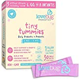 LoveBug Tiny Tummies Probiotic, 30 Packets, Infant and Baby probiotics support for Babies