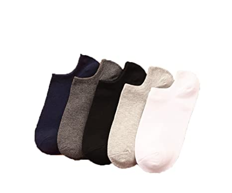 Hosaire 5pares Calcetines Tobilleros Hombres,Calcetines Planos Antideslizantes Calcetines Casual Calcetines Transpirables,Style C