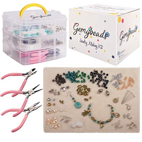 (Premium Jewelry Making Supplies Includes Charms, Pliers, Findings, Beads for Bracelets, Earrings, Necklaces, Beading Kit with Free EBook, DIY Crafts for Adults & Teenagers, Perfect Teen Girl)