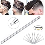 Jblcc Hair Tattoo Trim Styling Face Eyebrow Shanping Device Hair Engraved Pen +30 Blades + Tweezers Hair Styling Design Beards Razor Tool/DIY Hair Tool