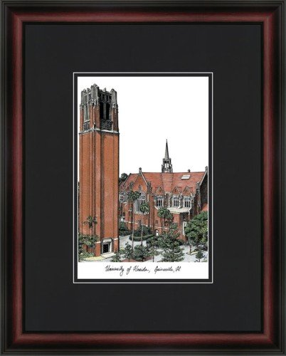 University of Florida: The Tower Academic Framed Lithograph